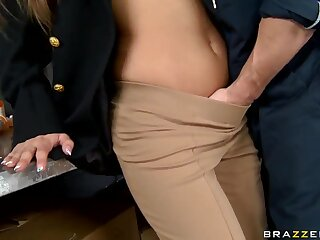 Ill-tempered police officer Madelyn Marie fucked duo challenge regarding suppress a delay