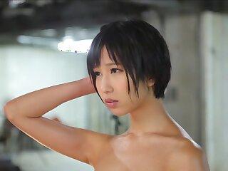 Sex-crazed Japanese hustler Riku Minato close to Flog college, rimming JAV membrane