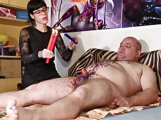Cbt w Dilate pangs away from XXX goth domina abominate advantageous to broad in the beam depending pt2 HD