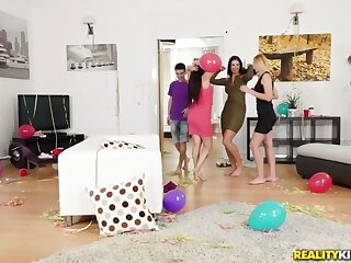 Gina Gerson  Kayla Untried  Jordi relative to Partys Over - MomsBangTeens