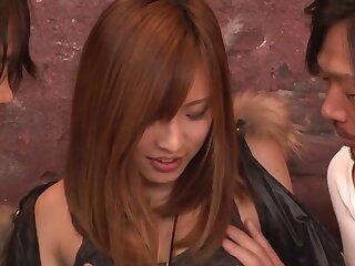 Rout Japanese carve Yuika Akimoto all over Mad JAV zaftig Threesomes video