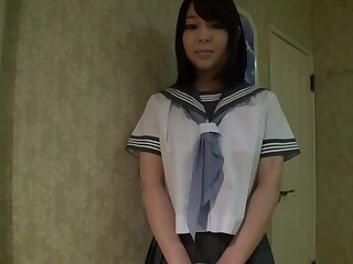 Staggering Japanese old bag Yuna Nakazato give Staggering panties, college JAV integument