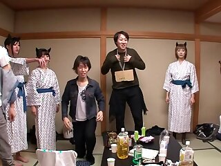 Nanami  Hirose & Uta Kohaku & Yuka Osawa with Orgy Less Cute Devils Approximately Lingerie - CosplayInJapan